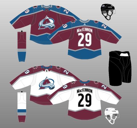 3beb5c3e6 Colorado Avalanche 2017-18 - The (unofficial) NHL Uniform Database