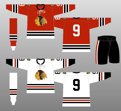 more photos 27ebc 38ce1 Chicago Blackhawks 1961-62 - The (unofficial) NHL Uniform ...