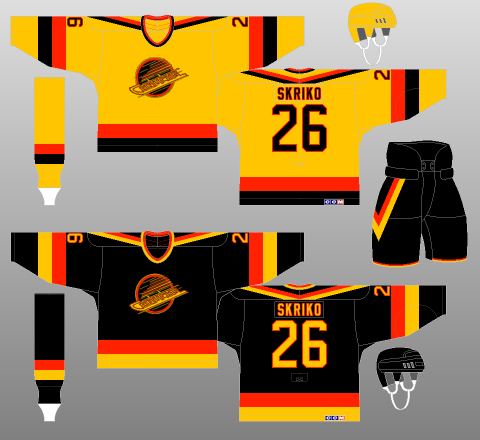 Vancouver Canucks 1985-89 - The (unofficial) NHL Uniform Database 9dad09562