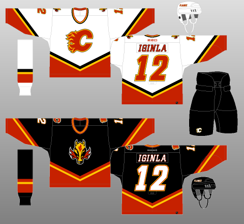 free shipping ce841 5d2da Calgary Flames 2000-03 - The (unofficial) NHL Uniform Database