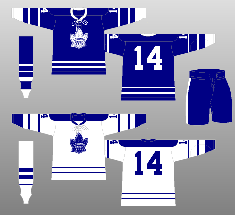 the best attitude a11e2 b4b80 1966-67 Toronto Maple Leafs - The (unofficial) NHL Uniform ...