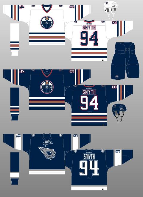 best sneakers 30796 8459a Edmonton Oilers 2001-07 - The (unofficial) NHL Uniform Database