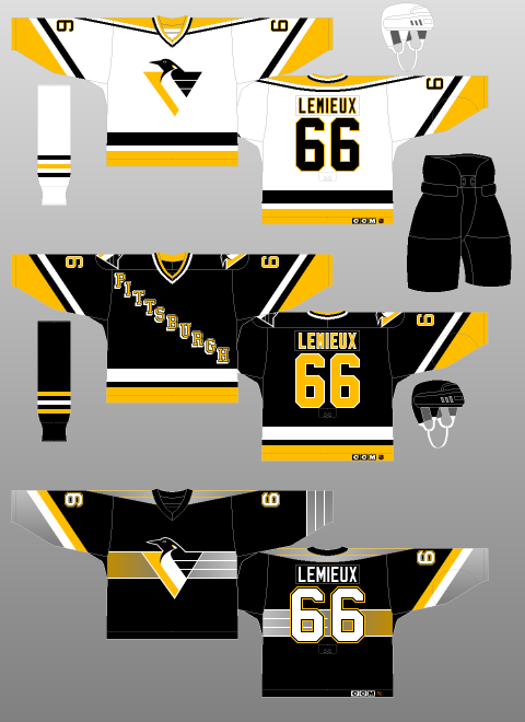 premium selection 7c62a 919b2 Pittsburgh Penguins 1995-97 - The (unofficial) NHL Uniform ...