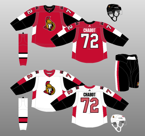 buy popular 2cfc2 8a169 2017-18 Ottawa Senators - The (unofficial) NHL Uniform Database