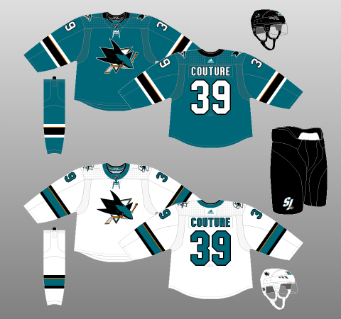 newest 72c0e 1d009 San Jose Sharks 2017-18 - The (unofficial) NHL Uniform Database