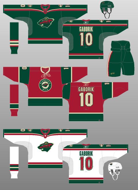 finest selection 5fdf7 144c7 Minnesota Wild 2003-07 - The (unofficial) NHL Uniform Database