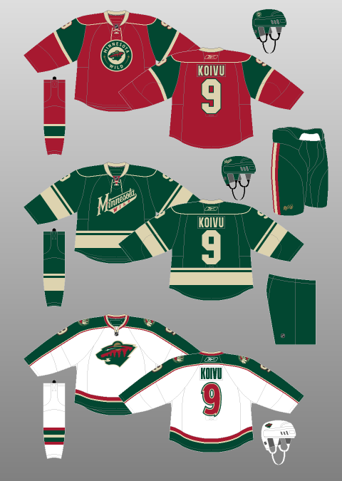 premium selection b2bf2 44470 Minnesota Wild 2009-10 - The (unofficial) NHL Uniform Database